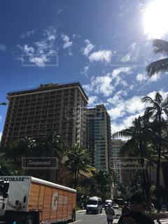 常夏の島ハワイ、冬の街並みの写真・画像素材[1020609]