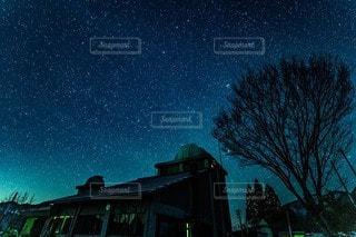 夜を見上げる空の景色の写真・画像素材[3600404]