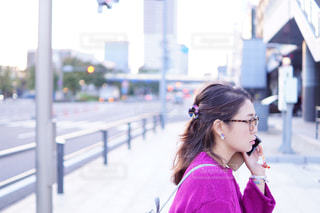 女性,スマホ,眼鏡,電話,ポートレート,電話中