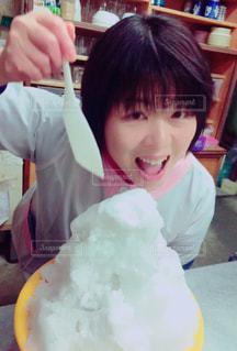 かき氷,唐津,かき氷と私,実は雪,器は洗面器