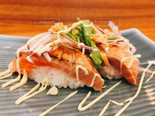 お寿司,おいしい,唐津,寿し幸,炙りサーモン