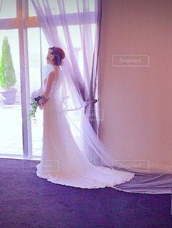 ウエディングドレスの写真・画像素材[873765]