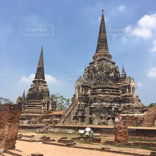 大規模な石造りの建物の写真・画像素材[822653]