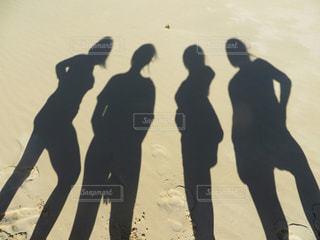 自然,海,砂浜,影,大自然,ジェスチャー