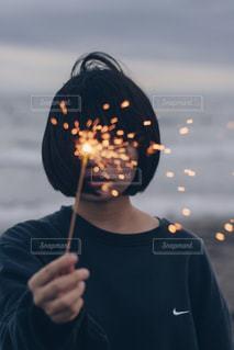 手持ち花火の写真・画像素材[1424751]
