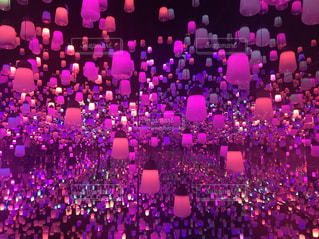 ピンク,ランプ,ピンク色,桃色,チームラボ,pink,チームラボボーダレス,呼応するランプの森
