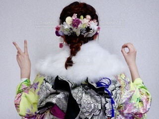 花,ドライフラワー,髪飾り,イベント,成人,和服,お祝い,晴れ着,ヘアアレンジ,振袖,成人式,和装,行事,振り袖,20,ハタチ,成人の日,成人式ヘア,編み込みヘア