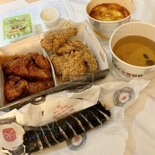 食べ物,飲み物,料理,チキン,出前,韓国料理,宅配,テイクアウト,キンパ,デリバリー,お持ち帰り,チーズトッポギ