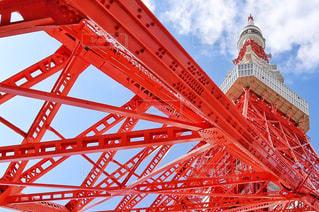 バック グラウンドで大きな赤い橋 - No.790351