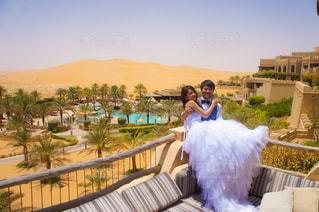 アブダビの砂漠 ウエディングフォトの写真・画像素材[791609]