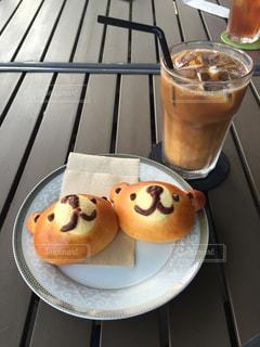 食べちゃうのが勿体ないほど可愛いクマさんパンと午後のひととき☆の写真・画像素材[2124597]