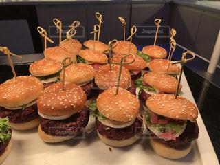 大量のハンバーガーの写真・画像素材[914091]