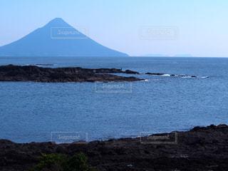指宿の海と青空の写真・画像素材[1115264]