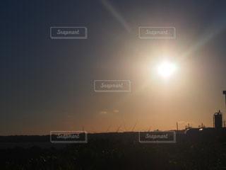 風景,空,屋外,太陽,朝日,光