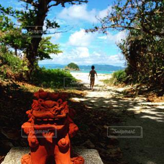 夏の空,夏の風景,沖縄 旅行 海 シーサー ビーチ