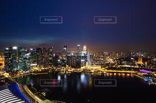 風景,夜,夜景,都会,ライトアップ,旅,シンガポール,港,都市の景観