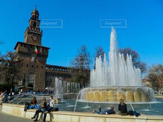風景,空,公園,屋外,ヨーロッパ,休憩,噴水,憩い,イタリア,海外旅行