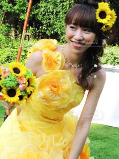黄色,結婚式,ドレス,向日葵,着物,ブーケ,ウエディング,wedding,イエロー,黄,yellow,ヒマワリ,黄色のドレス