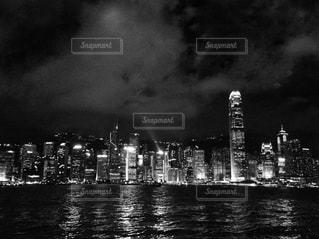 香港の夜景の写真・画像素材[814503]