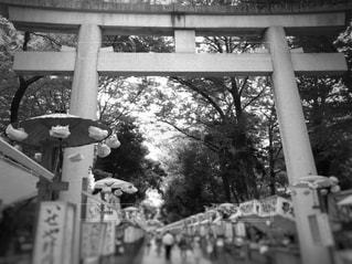 神社でお祭りの写真・画像素材[815860]