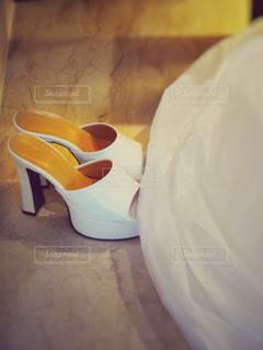 結婚式の白い靴 - No.823596