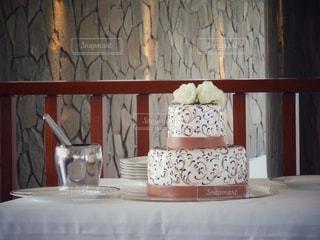 2段のウェディングケーキの写真・画像素材[826425]