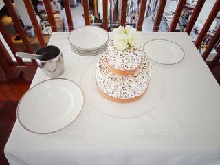 2段のウェディングケーキの写真・画像素材[826433]