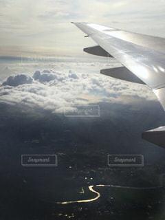 飛行機からの景色の写真・画像素材[873313]