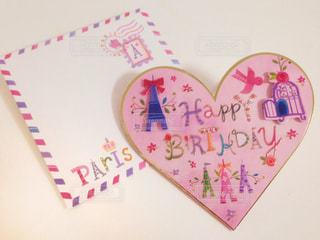 ピンク,手紙,ハート,可愛い,幸せ,誕生日,お祝い,ハッピー,ハッピーバースデー,キュート,メッセージカード,ラブリー,封筒,カード,誕生日カード