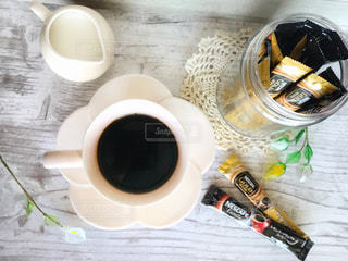 花型カップ&ソーサーでおうちカフェの写真・画像素材[1273873]