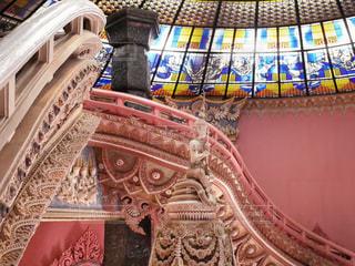 ピンクの階段の写真・画像素材[1799094]