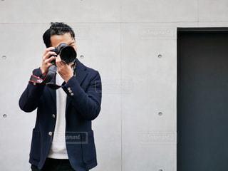 カメラ男子の写真・画像素材[1828725]