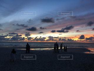 自然,風景,空,夕日,夕焼け,景色,旅行,マレーシア,夕陽