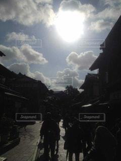 空,京都,雲,光,眩しい