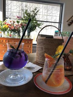 綺麗な色の飲み物の写真・画像素材[2274817]