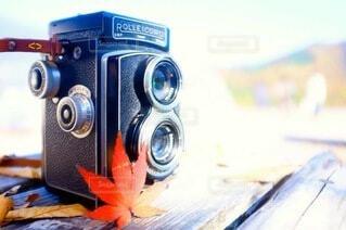 カメラのクローズアップの写真・画像素材[3713854]
