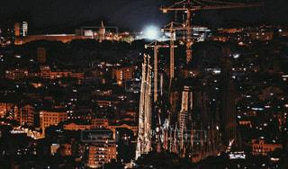 夜の街の景色の写真・画像素材[824819]