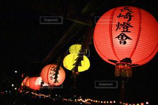 夜はライトアップ ランプの写真・画像素材[897233]