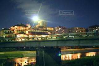 夜の街の景色の写真・画像素材[907767]