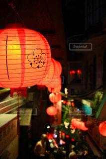 夜はライトアップ ランプの写真・画像素材[924882]
