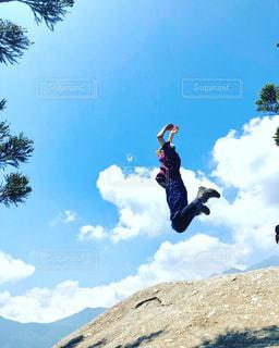 大ジャンプ!!の写真・画像素材[1578207]
