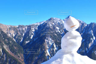 雪に覆われた山の写真・画像素材[1732039]