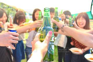 20代,グラス,ビール,乾杯,バーベキュー,ドリンク,BBQ