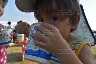 屋外,子供,かき氷,男の子,夏祭り,外遊び,熱中症対策,暑さに負けるな