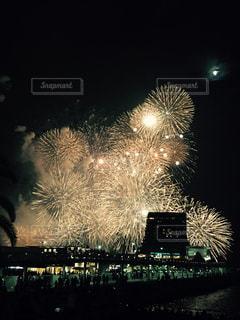 空,夜,花火,外,神戸