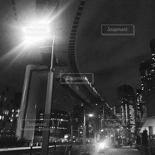 近未来的、東京モノレールの写真・画像素材[827838]