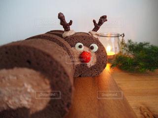トナカイロールケーキの写真・画像素材[935525]