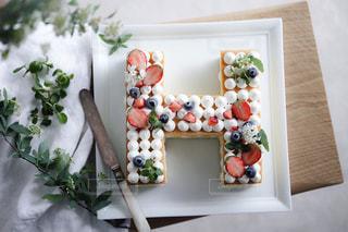 アルファベットケーキの写真・画像素材[3276300]