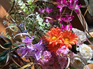 花,室内,光,リボン,造花