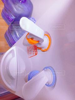 青と白の歯ブラシ - No.905097